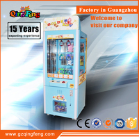 Qingfeng canton fair promotion mini golden key arcade games crane claw machine for sale