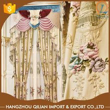 Factory Directly provides embossed jacquard swags and tails curtains