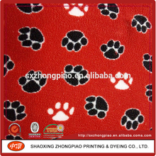 Printed polyester knitted polar fleece fabric