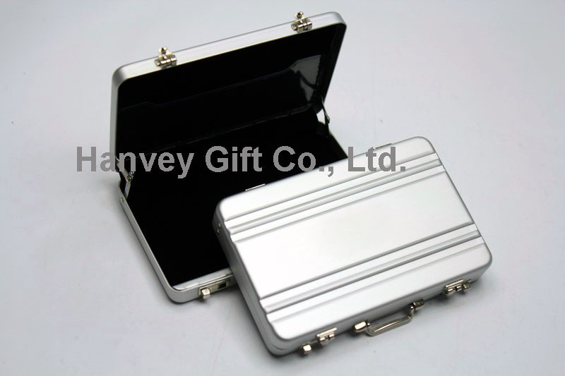 Fancy High Quality mini briefcase place business credit id card holder, business gift credit card case/card wallet