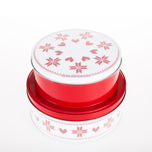 High quality polour round tin box