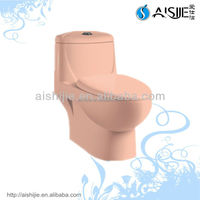 ASJ8856 Ceramic Siphonic One Piece Toilet Pink Color Toilet