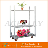 garden metal flower pot rack cart