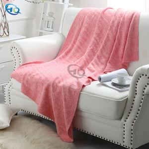 80% wool 20% polyester blanket baby milestone blanket knitted blanket