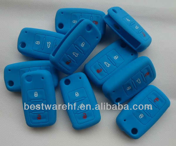 Fob Volkswagen silicone remote key 3 buttons remote key holders