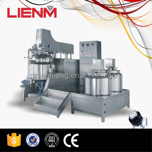 LIENM Factory automatic vacuum emulsifying mixer, gel, cream, lotion making machine,