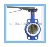 Casting Iron PTFE seated Wafer Butterfly Valve
