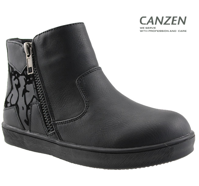 Spring and Autumn pu black girls casual shoes