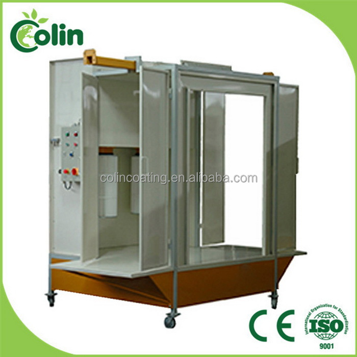 B-606 iron rims coating machine for electrostatic powder paint/powder spray booth