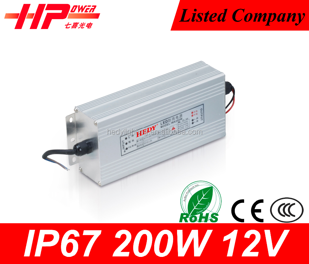 New coming Guangzhou factory price led switch power constant voltage single output 17A 12vdc 200 watt ps-303d power supply
