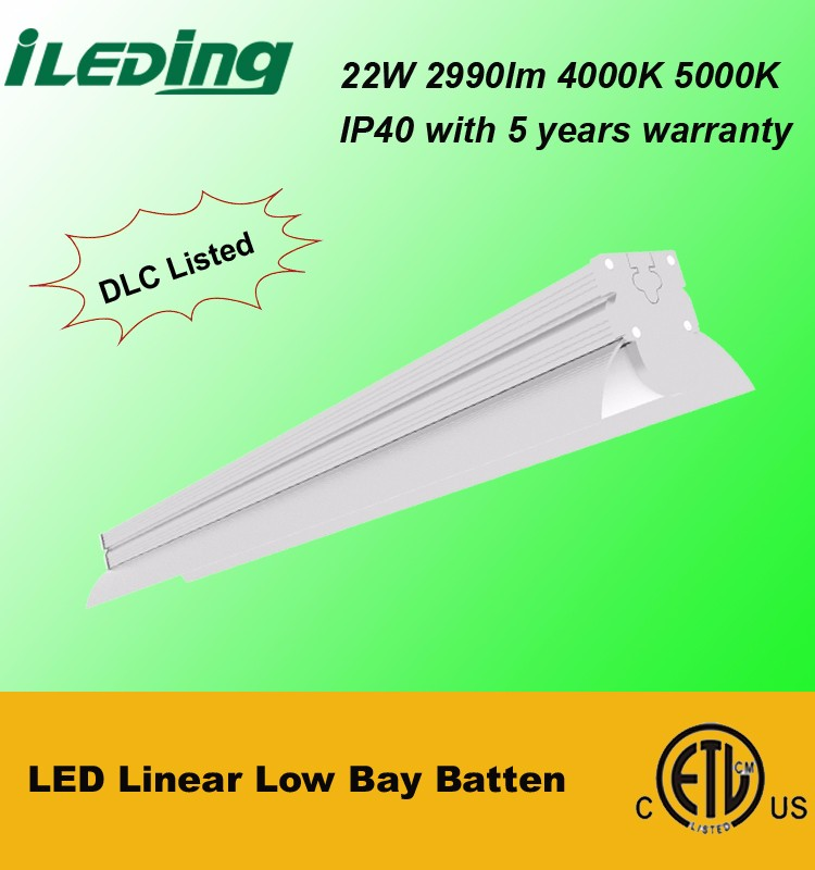 LED Low Bay Batten Light Fittings with DLC