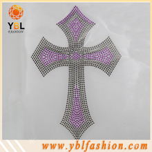 Iron On Faith Cross Design Heat Transfer Hotfix Rhinestud Motif