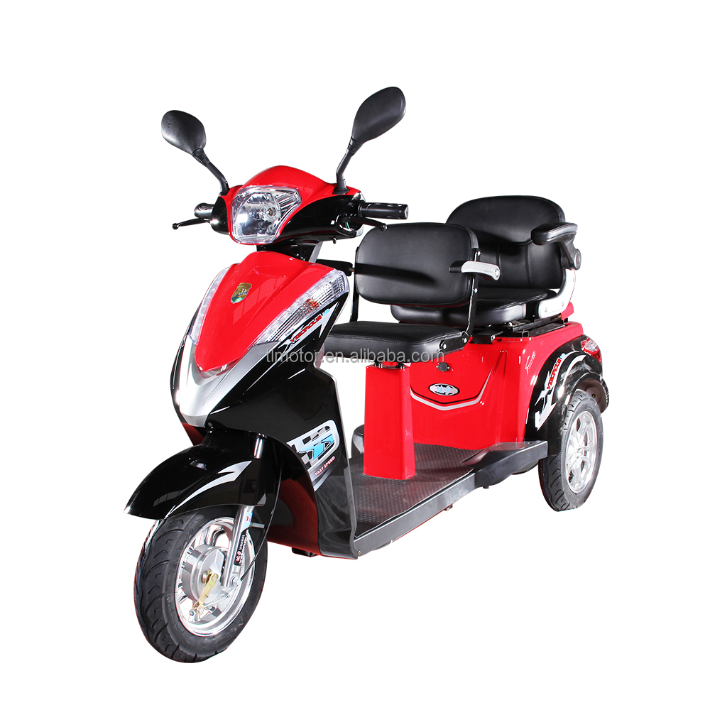 new two seats 3 wheels electric bicycle electric handicapped motorcycle