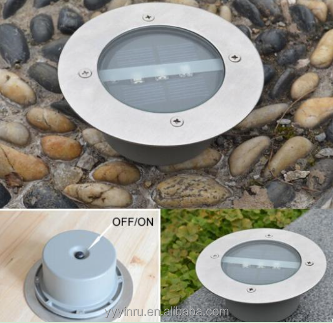 factory in NINGBO solar powered deck decoration stainless steel solar underground light solar led ground light