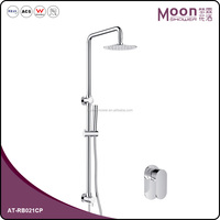 Sliding rail bar system for bathroom showering, Shower kits with shower head AT-RB021CP