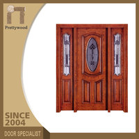 Home Front Surface Finishing Teak Italy Oval Soundproof Wooden Door