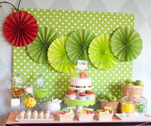 party decoration decorations wedding tissue paper fan