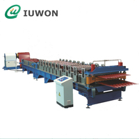 High Quality Mteal Double Layer Roofing Sheet Roll Forming Machine