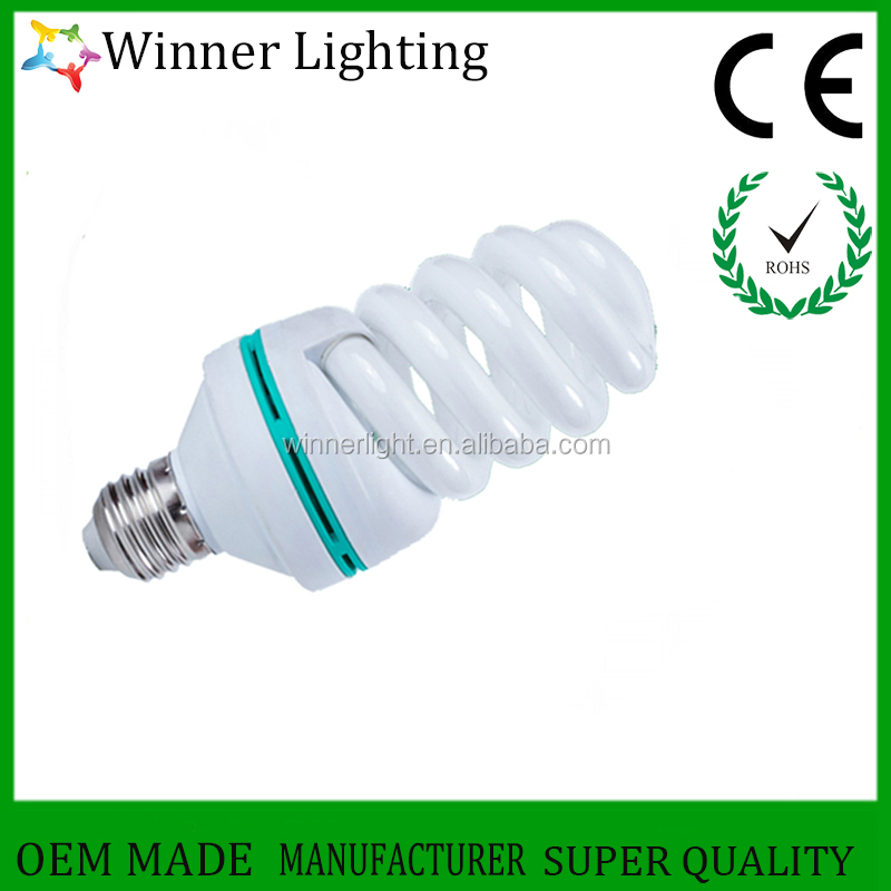full spiral saving lamp 40watt long life energy saving bulbs factory electricity saver light