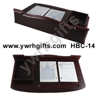 special wooden desk calendar with note box