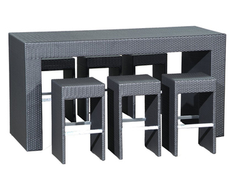 2012 new style rattan bar table set outdoor furniture