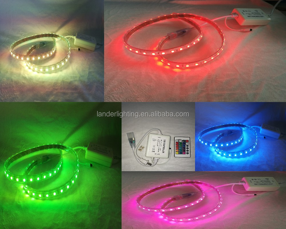 Christmas ropelight SMD5050 waterproof High Voltage Five Full Color Beads Jump Flash 100m/roll led strip light 110-220v