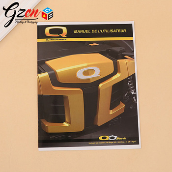 China cheap price custom machine car product guide catalog instruction manual