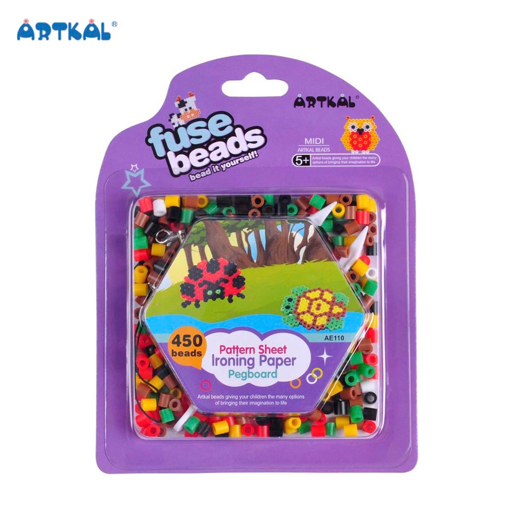 5mm Non-toxic Arts and Crafts Perler Fuse Beads for Kids