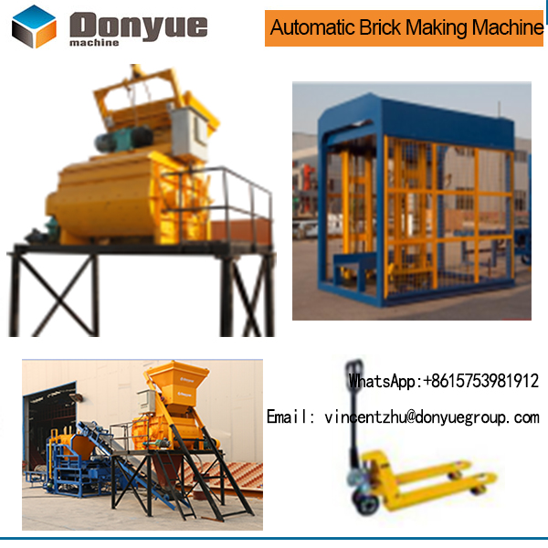 DONGYUE Fully automatic cement sand block production line ,hollow brick making machine