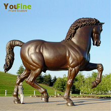 hot sell life size large Antique bronze horse sculpture