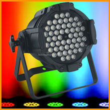 54x3 led stage par can 4 in 1 quad-color led par can with ce rosh