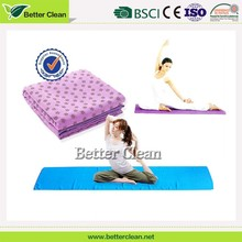 Chinese yoga mat manufacture wholesale customed softable eco friendly folding yoga mat towel