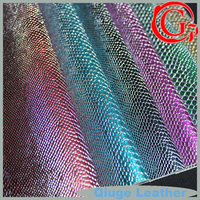 QG646 faux snake skin artificial leather fabric for making bags