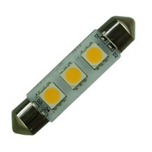 3-SMD5050 12V White LED Car Dome C5W Number Plate light Bulb