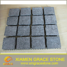 G684 Black Basalt Paving Stone , Flamed Cubic Stone