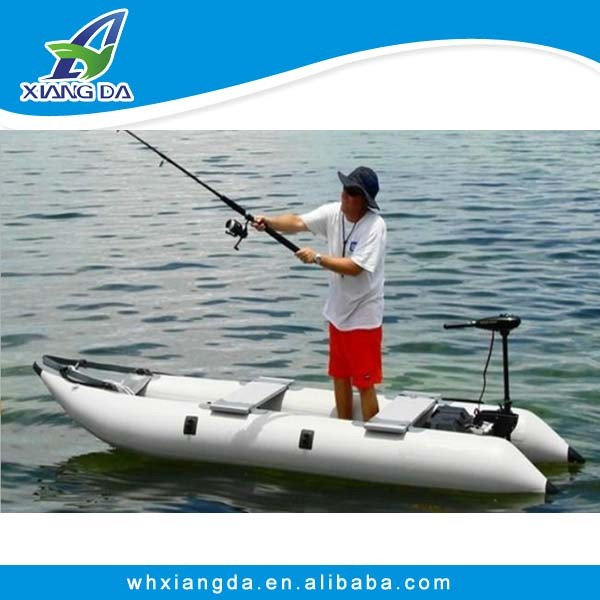 PVC foldable pontoon fishing kayak
