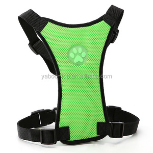 Soft Nylon Mesh Dog Car Seat Harness Safety Dog Vehicle Cars Seat Belt Harnesses For Medium Large Dogs