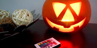 Battery Operated Multicolors RGB LED Pumpkin Light For Halloween Pumpkin LightingDecoration