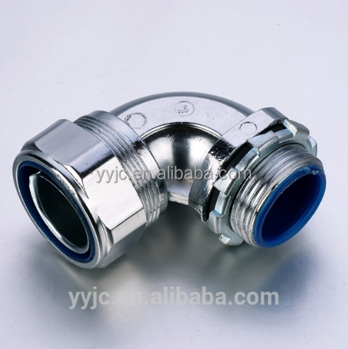 90 Degree Waterproof Electrical Flexible Conduit Box Connector