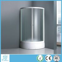 white painted aluminum frame round shape bathroom standing high tray steam room shower enclosures