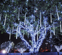 STL Multi-color 30CM Meteor Shower Rain Tubes LED Christmas Lights Wedding Garden Xmas String Light Outdoor