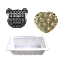 Low price blister plastic chocolate tray,plastic cookies tray,plastic tofu tray made in china