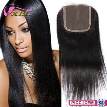 XBL New Arrival Middle Part Straight Human Hair Closure 4by4 Full Lace Closure
