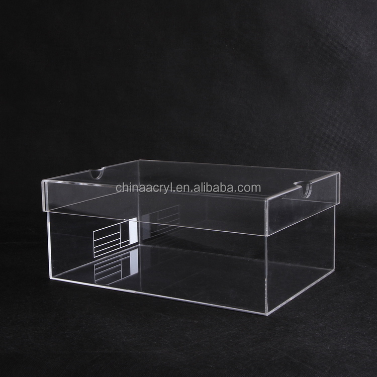 High quality imported acrylic Material clear perspex display shoes case