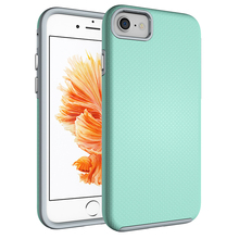 plastic rubber shockproof high quality cell phone case for iphone 5 6 7 8 X