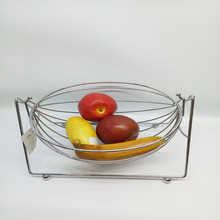 Factory metal Storage Basket can fold Fruit Basket