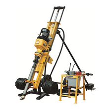 Small full pneumatic DTH rock water well drilling rig machine for sale