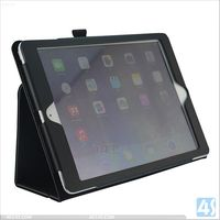 Fo iPad air Flip Stand Cover with Automatic Wake / Sleep Leather Case P-IPD5CASE042
