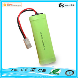 Factory Promotional CE ROHS UL approvals SC 7.2V 3000mah nimh rechargeable battery pack for remote control toys