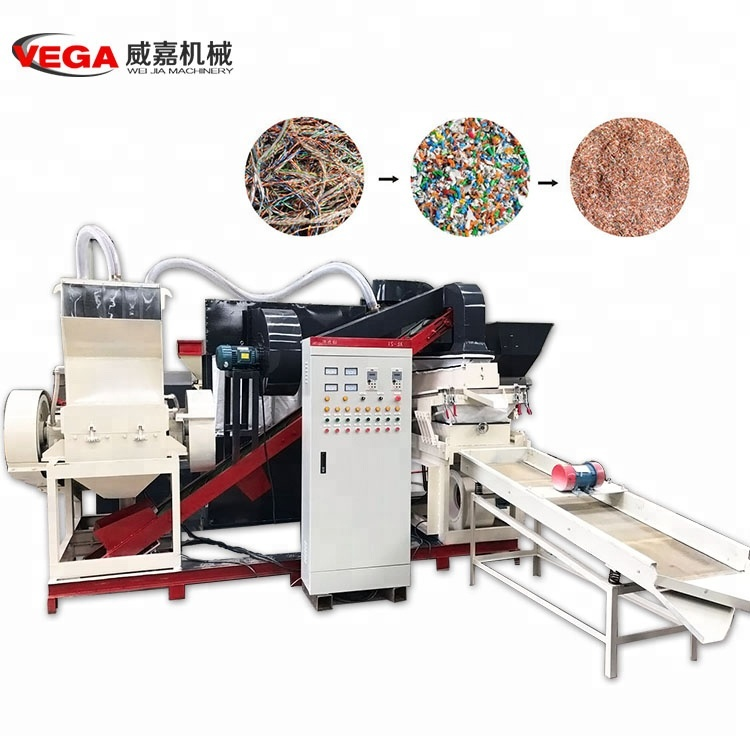 Hot-selling Scrap Copper waste wire cable recycling <strong>equipment</strong>/ best Copper and plastic separator machine.